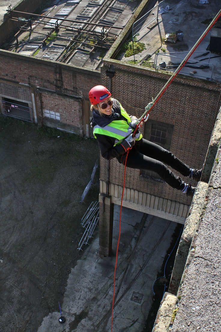 Abseiling off Battersea Power Station :)