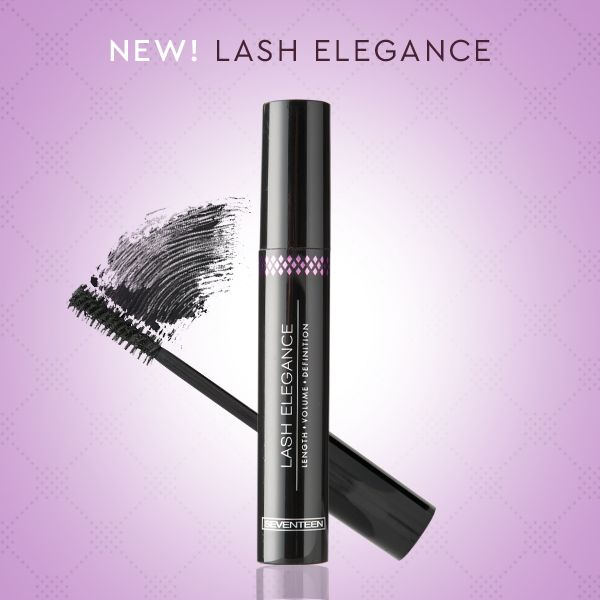 "Lash Elegance Mascara | Seventeen Cosmetics NEW! Lash Elegance: A unique mascara for thick eyelashes with ""False Lash Effect"" ! Remarkable volume, length and definition, perfect separation, with thick multi-dimensional capillary brush that brings out the lashes! #Seventeen #Cosmetics #mascara"