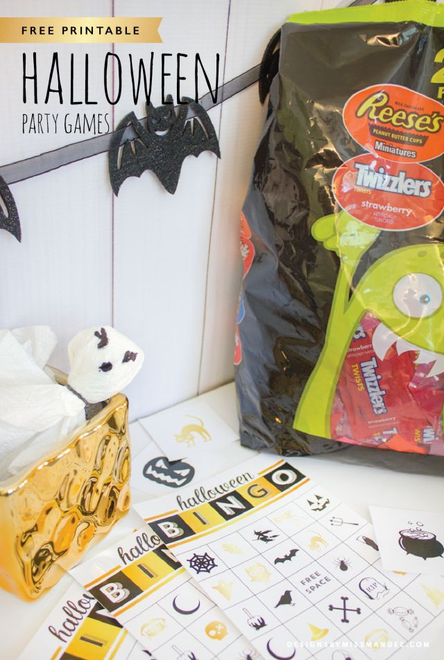 FREE Printable Halloween Bingo Cards & Grab the Ghost Game - Designs By Miss Mandee. These are the easiest games to put together, and they are so much fun to play! Perfect for large groups and varying ages. #TrickorSweet #ad