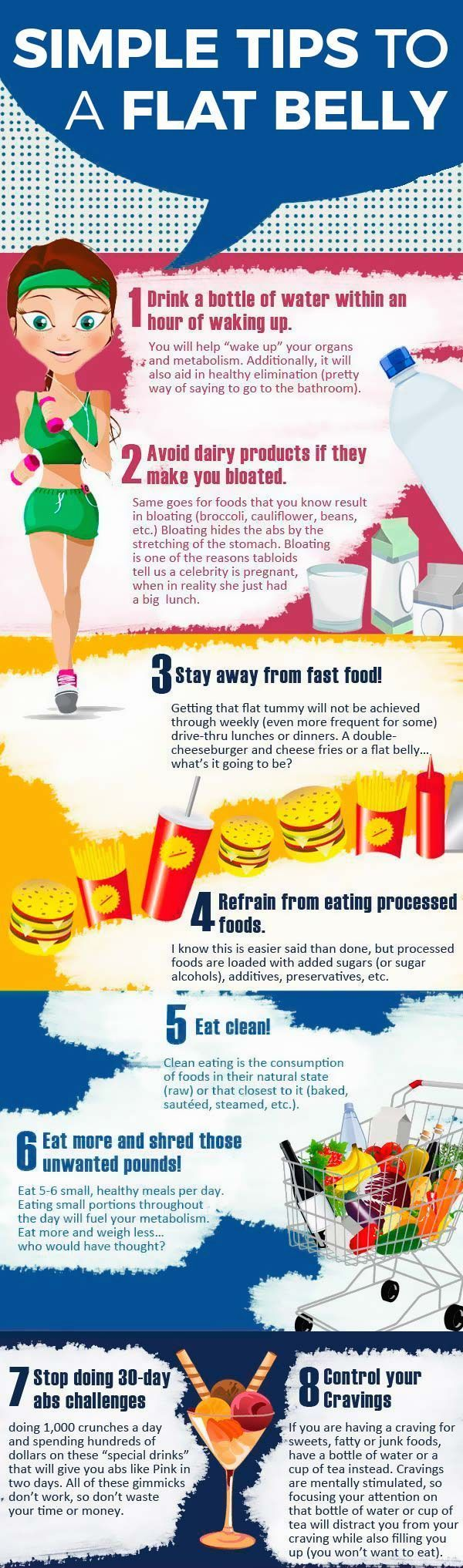 Simple tips to a flat belly