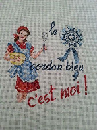 Les Brodeuses Parisiennes -mag. Creation Point de Croix 28HS : « Cordon Bleu» à broder au point de croix -  Veronique Enginger