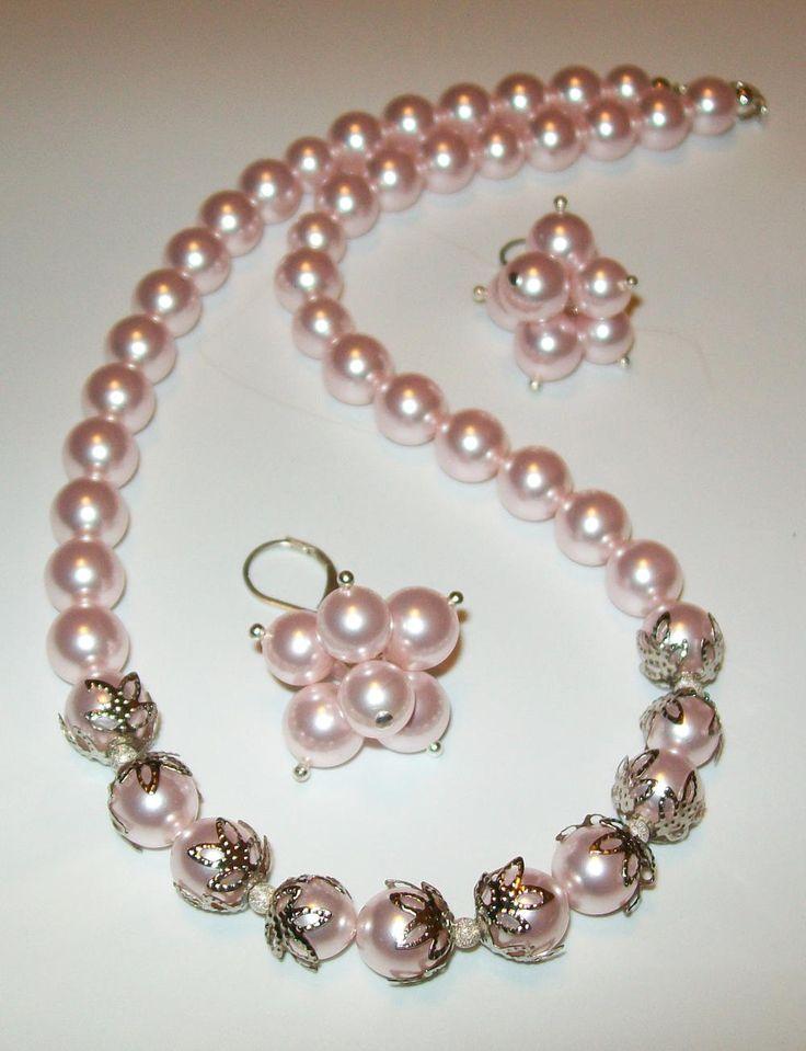 #pearls Amazing Grace DIY Jewelry Set | AllFreeJewelryMaking.com