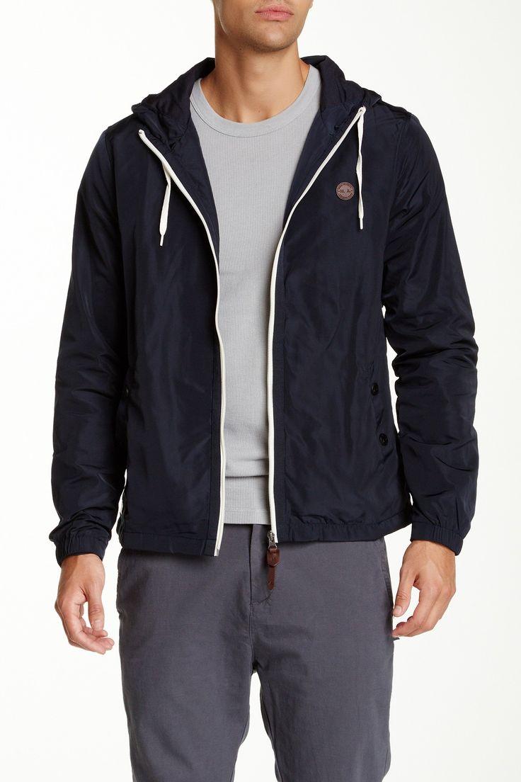 Marshall Artist Lined Wind Cheater Jacket: Black