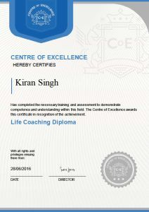 Life Coaching Diploma by Centre of Excellence