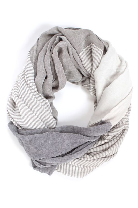 This scarf would be perfect with an all beige and white outfit.