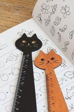 Kawaii Centimeter Ruler - Little Cat