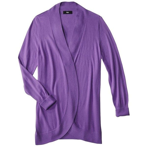 Mossimo® Womens Plus-Size Long-Sleeve Ultrasoft Cardigan Sweater -... ($11) ❤ liked on Polyvore featuring tops, sweaters, cardigans, purple top, plus size jerseys, purple long sleeve top, plus size long sleeve tops and long sleeve jersey top