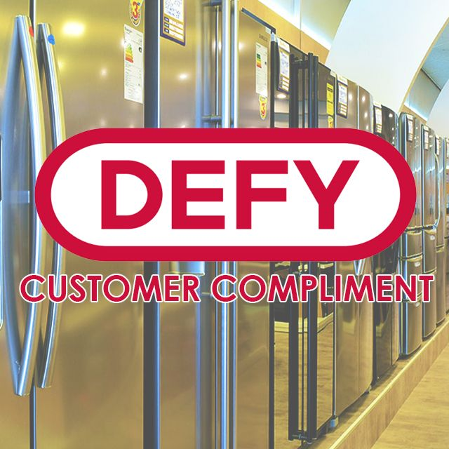 We love #Feedback on our #CustomerService – clink the link to read a #compliment received via @Defy_SA ! #satisfiedcustomer