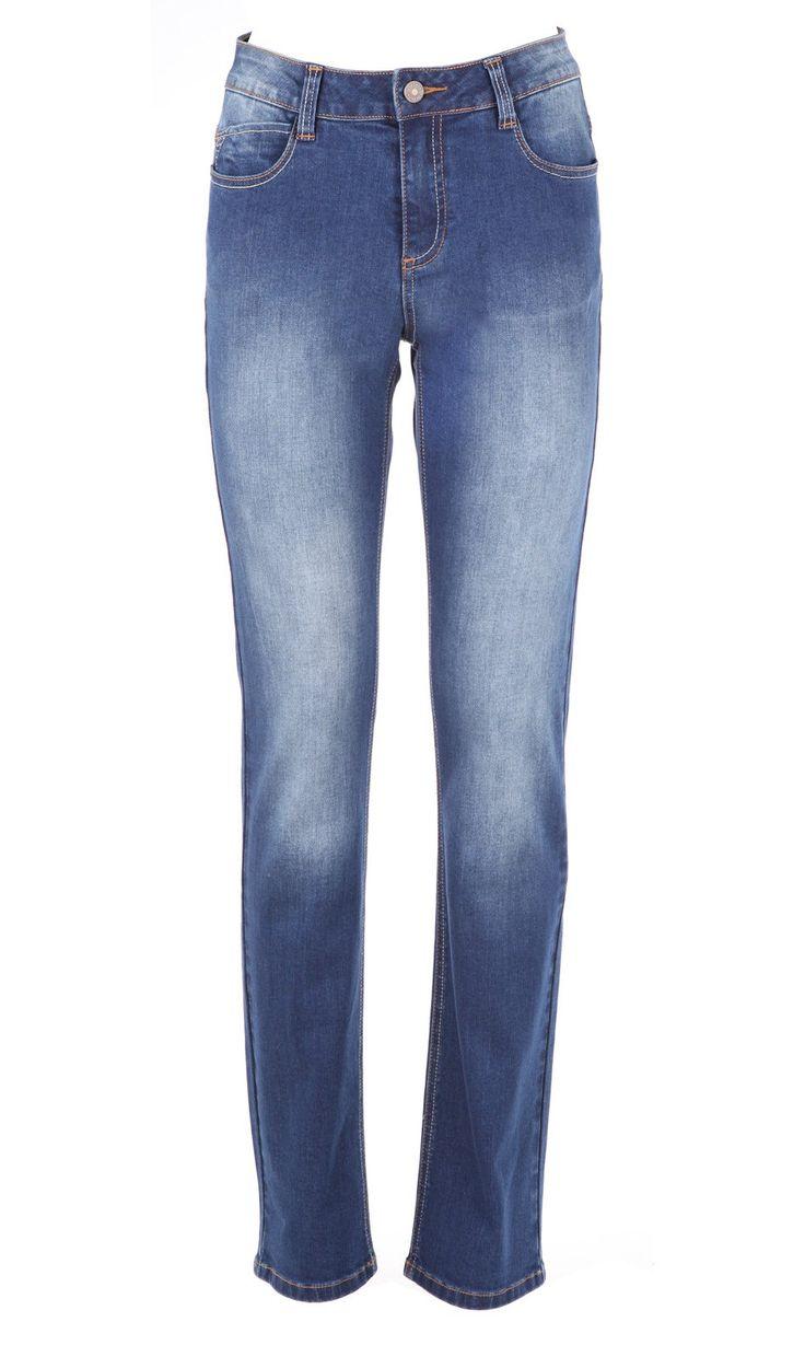 NEWPIXIES INDIGO,Jeans coupe droite,taille basculée,99%Coton/1% Elasthane.Vendu 59.9€ sur www.depechmod.fr