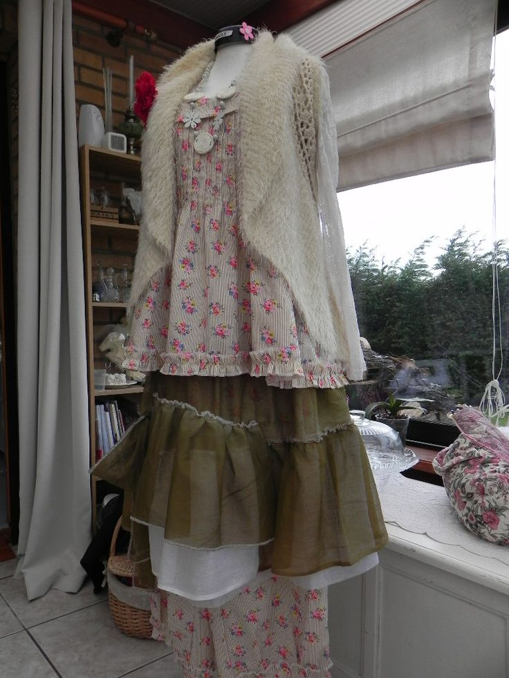 tenue du jour altered shabby chic clothing pinterest ForTenue Shabby Chic