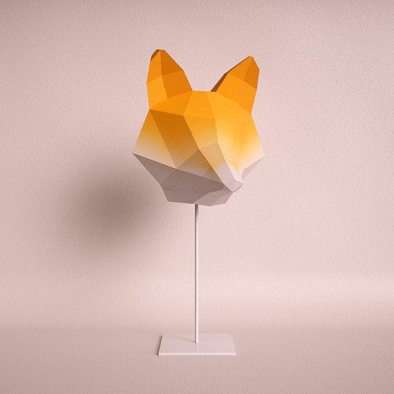 Fox Medium orange gradient - do it yourself paper lampshade