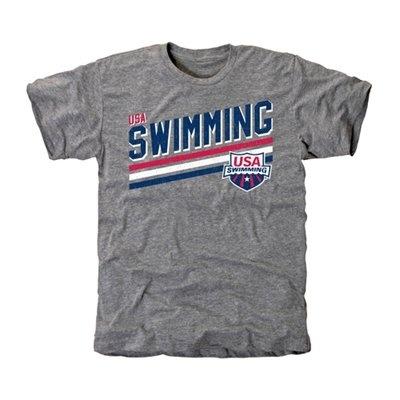 USA Simming Team Triple Stripe Tri-Blend T-Shirt - $23.95