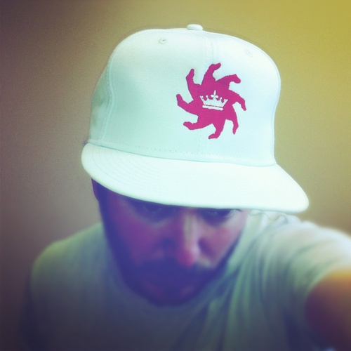 King of the Iron Thumb Cap | White with Red