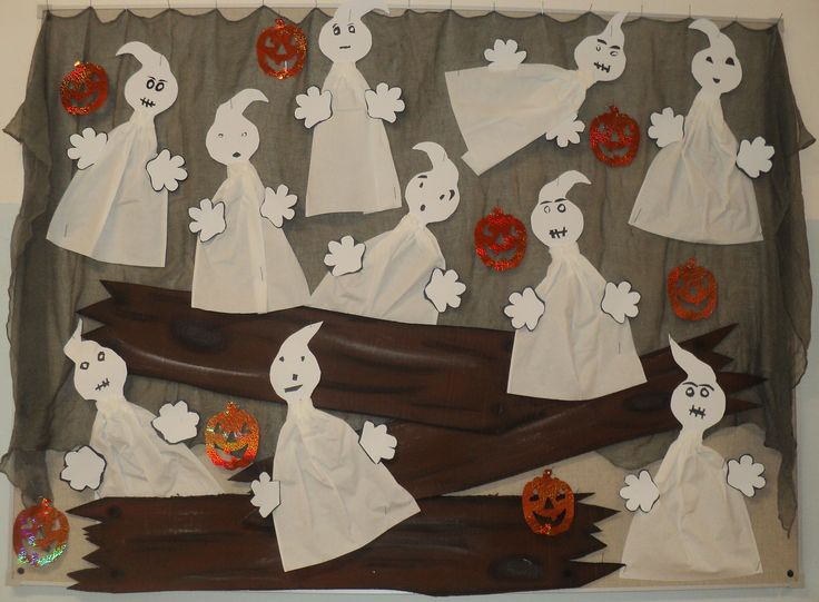 Halloween 2016 - Duchové z papírových utěrek