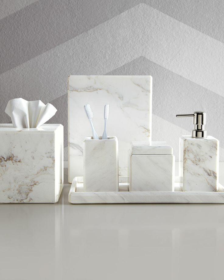 Small Homeinterior Ideas: Waterworks Studio Marble Vanity Accessories