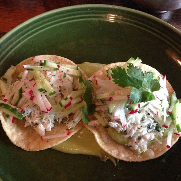 Crab Tostada @ The Painted Burro