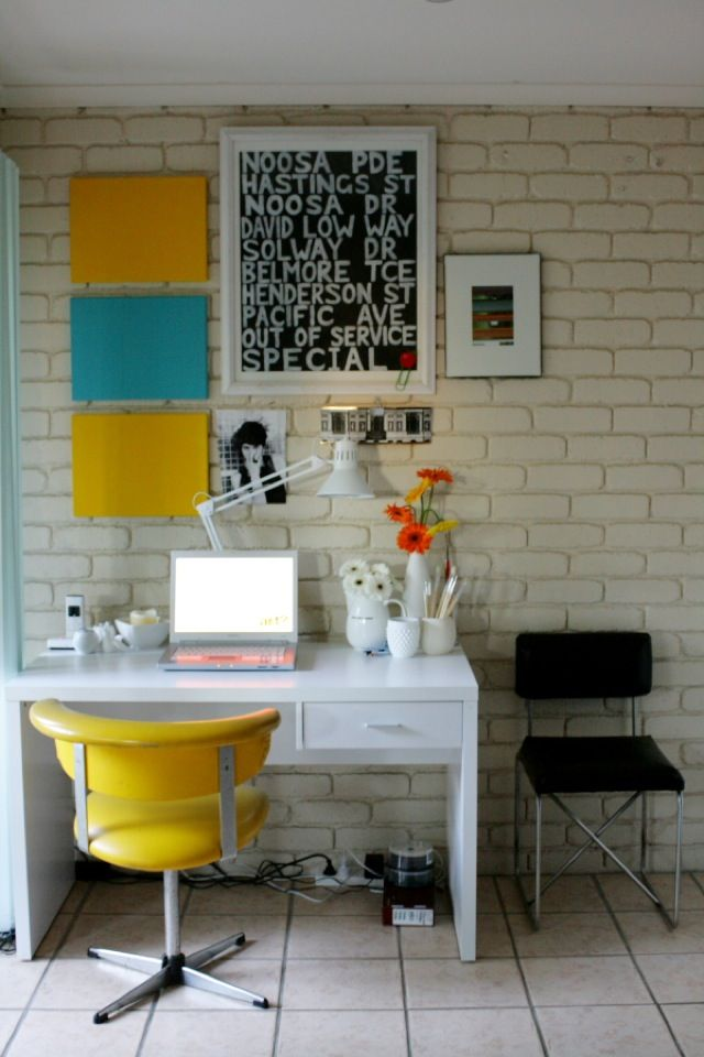 cool home office designs practical cool. interior modern home office design ideas with white brick wall small desk single drawer and yellow chair desi cool designs practical e