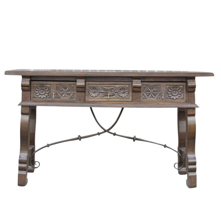 Spanish Colonial Style Console Table on Chairish.com