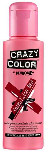 coloration crazy color vermillion red teinture rouge cheveux semi permanente pour une - Coloration Rouge Permanente