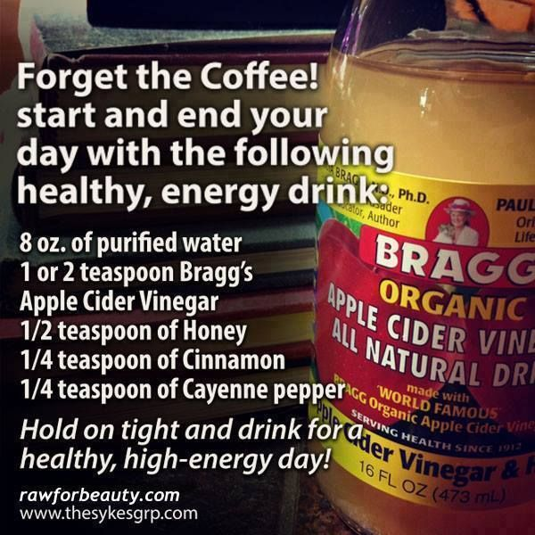 forget the coffee! start and end your day with the following healthy energy drink: - RAW FOR BEAUTY