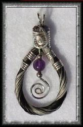 Horse hair pendant