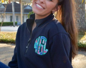Monogrammed Pullover Jacket with Lilly by TantrumEmbroidery