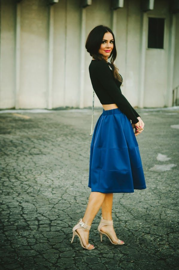 FULL MIDI SKIRT: ROYAL BLUE - Love by Lynn