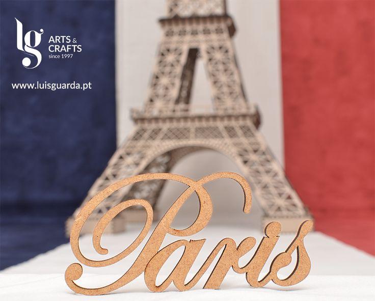 Palavra Paris cortada a laser. Ref. 74850 10cm ->http://www.luisguarda.pt/produtos/palavras-1/page/10