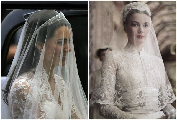 Aisle Style | How to secure a drop veil Grace Kelly