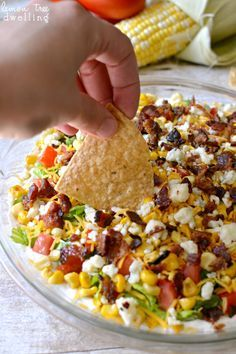 Cobb Dip | Ranch Dip covered in Bacon and other deliciousness! Lemon Tree Dwelling