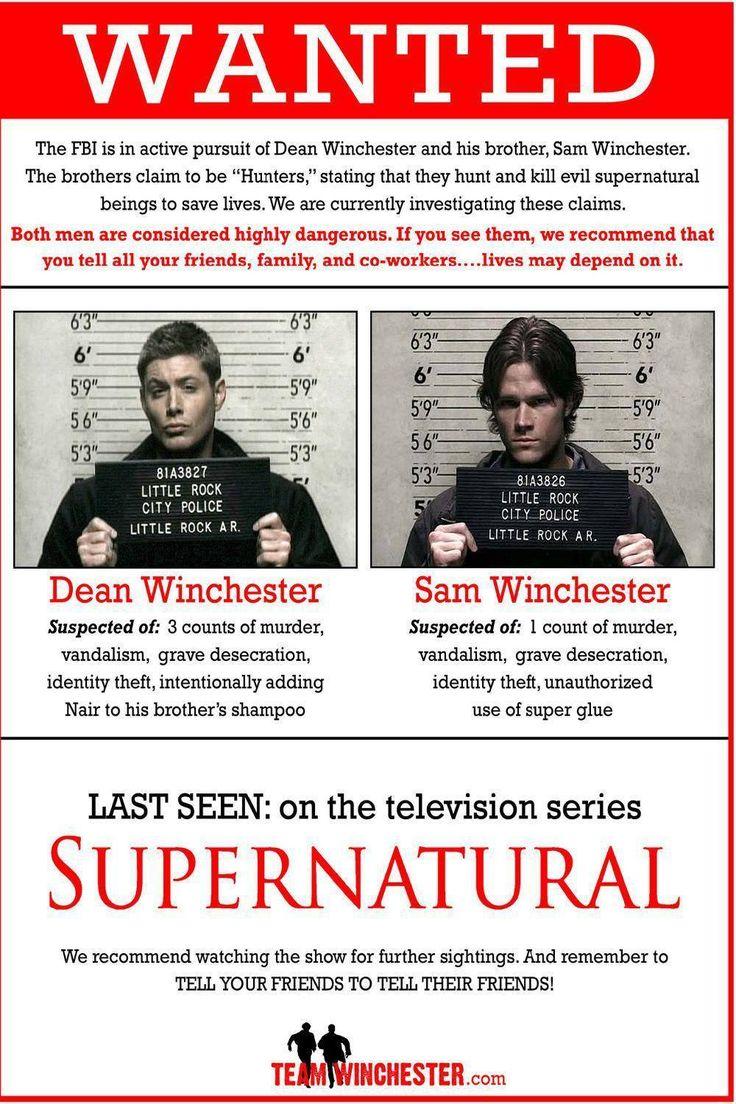 Supernatural Dean And Sam Wall Poster 40x60cm