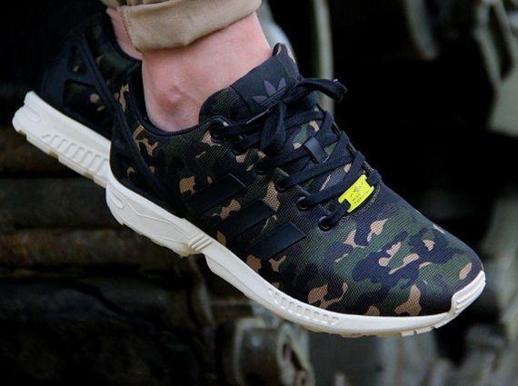Adidas Originals ZX Flux Camo. Coming soon to Capsule Sneakers.