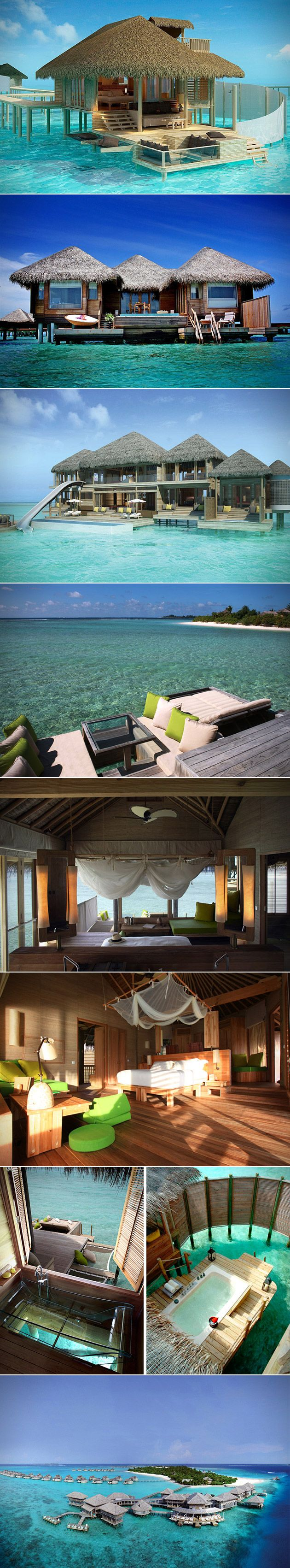 Sure there are several resorts to choose from in Maldives, but there's only one resort in the Laamu Atoll. Nestled deep within the Indian Ocean is the stunning Six Senses Laamu Resort. When you close your eyes and picture paradise, Six Senses is exactly what you're imagining. This resort includes several different overwater villas, all of which provide panoramic views of the turquoise waters and white sandy beaches surrounding each of the bungalows.