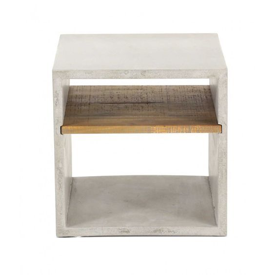 Concrete cube, modern and simple in shape. It can act as a durable end table or a coffee table holding anything from your magazines and candles in place