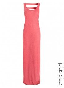 Cut-out Maxi Dress Coral