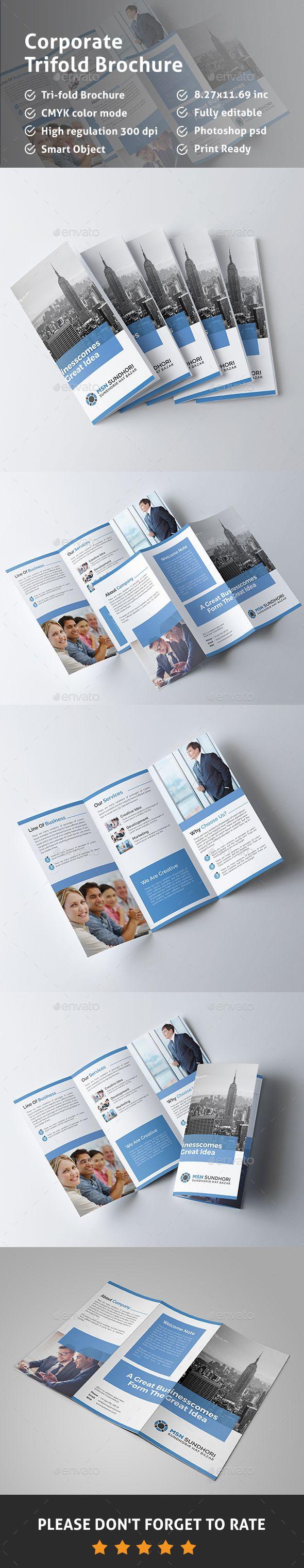 Tri-fold Brochure Template PSD. Download here: http://graphicriver.net/item/trifold-brochure/15455705?ref=ksioks