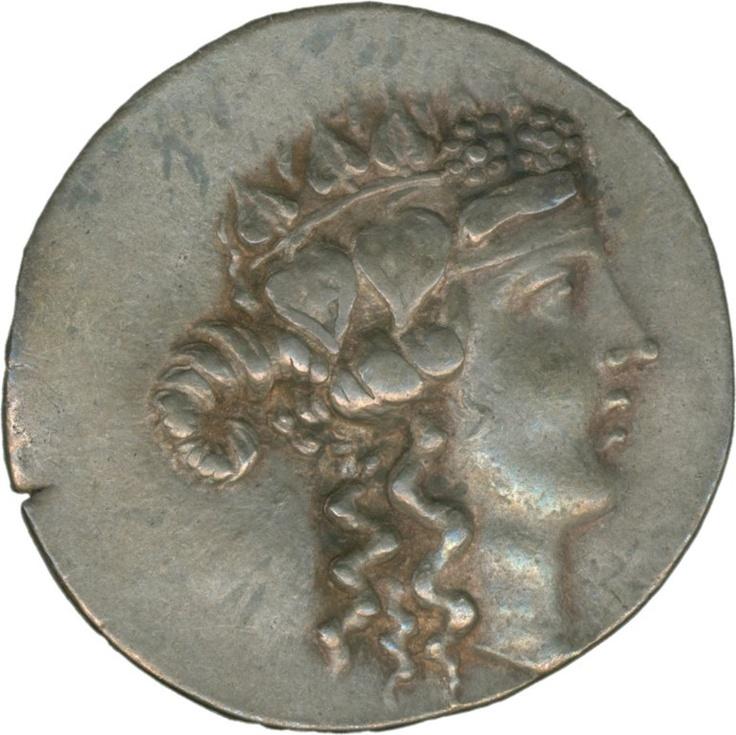 Greece: Thasos, tetradrachm and 148, silver, Dionysos head, at back. Heracles with bat, very fine    Dealer  Schwanke GmbH    Auction  Minimum Bid:  200.00EUR