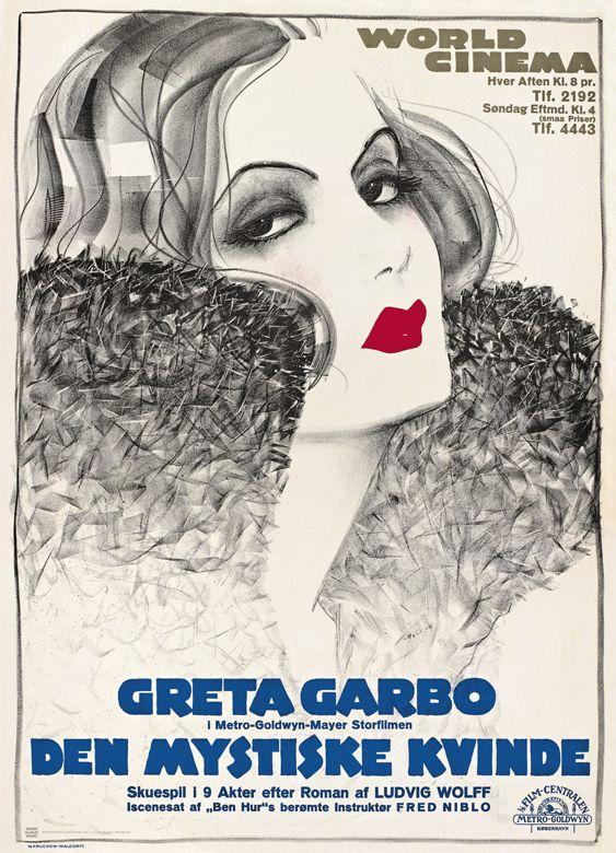 Sven Brasch - Greta Garbo in Den Mystiske Kvinde (The Mysterious Lady) - 1929 - Denmark