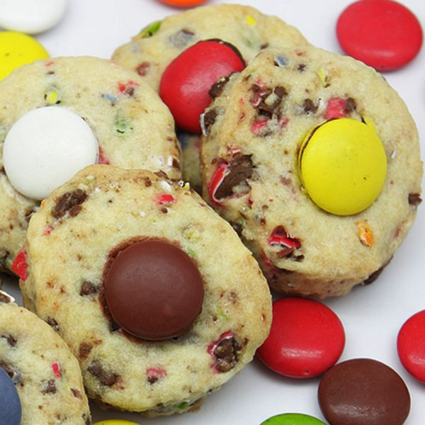 Delicious, basic easy to make refrigerator cookie makes 6 dozen. Great for a cookie swap.Use smarties or M