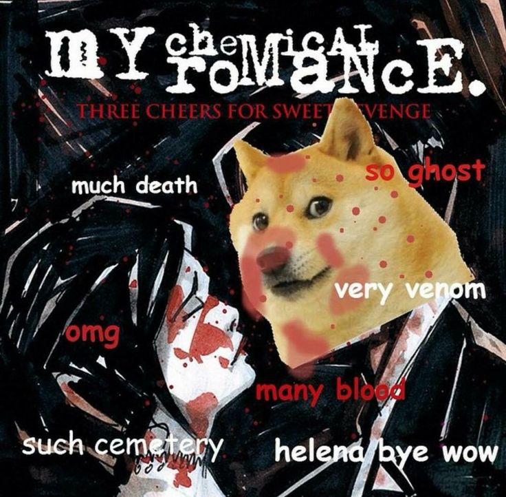 Doge meme/ MCR's Three Cheers For Sweet Revenge - Life throws you curves. Being…