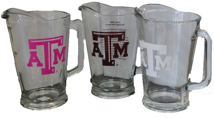 College Depot | Texas A Glass Pitcher Perfect Ring Dunk Pitchers!