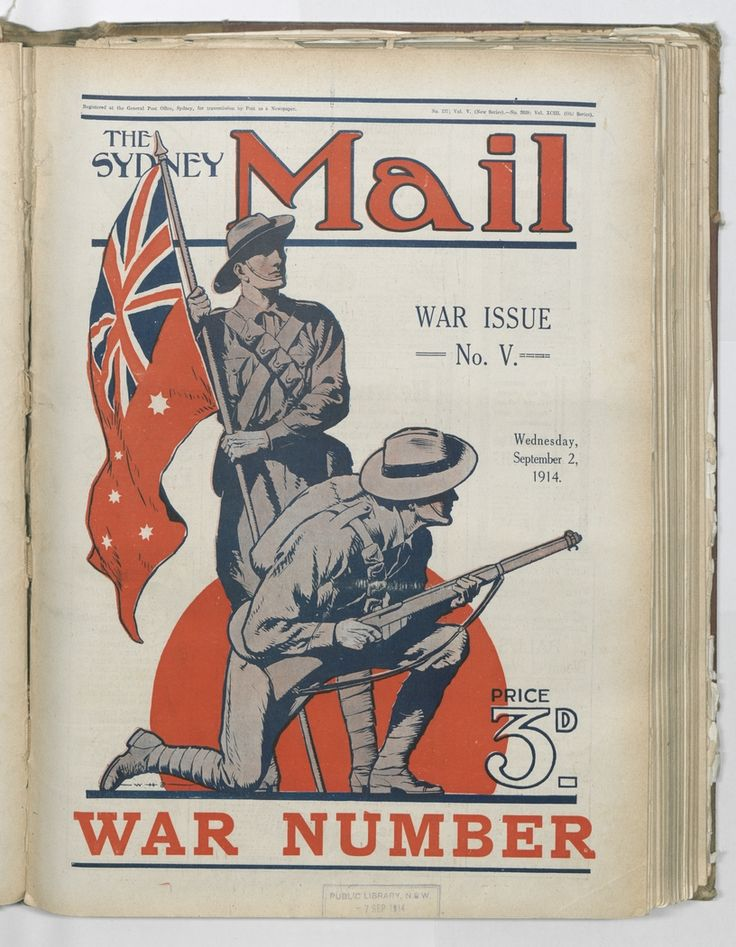The State Library of NSW World War I and Australia. A detailed research guide organised into categories that provides access to the libraries extensive collection on WWI.