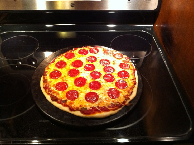Homemade Pizza. Sauce from our garden.