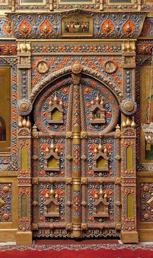 St Basil's Cathedral (Собор Василия Блаженного),  Moscow, Russia Interior Door