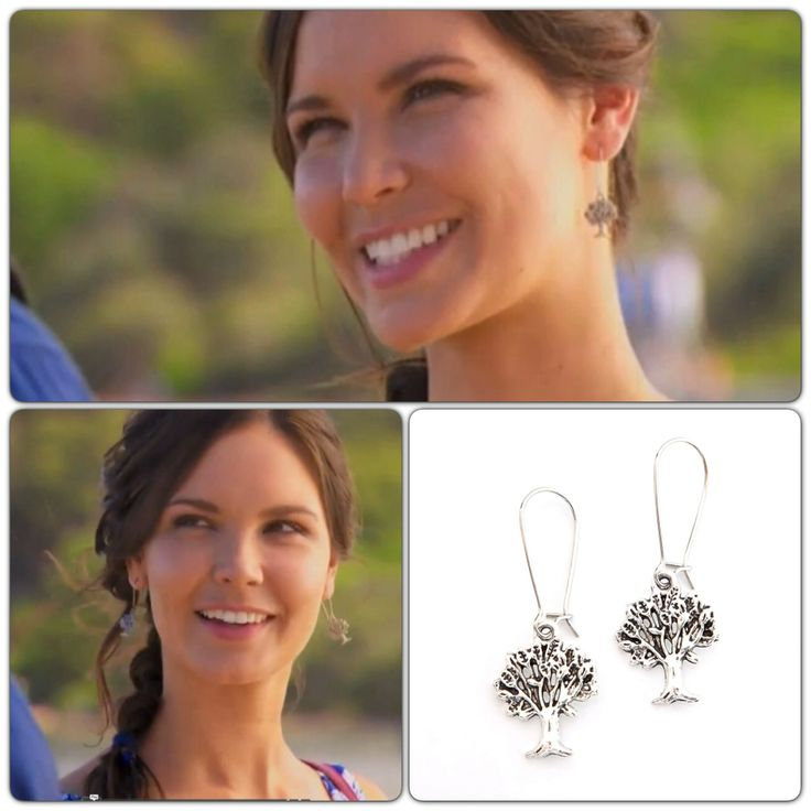 Our Fig tree earrings worn by Sophie on Home and Away :) www.nestofpambula.com.au