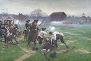 The Battle of Lexington, 19th April 1775, 1910  by William Barnes Wollen
