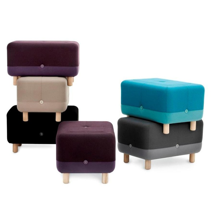 Wonderful Normann Copenhagen Sumo Pouf By Simon Legald.Sumo Pouf Is Made Of Wood,  Textiles And Buttons. It Comes Across Sturdy And Friendly At The Same Time.