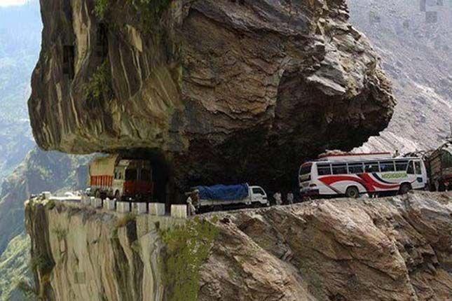 Most dangerous road in Pakistan.
