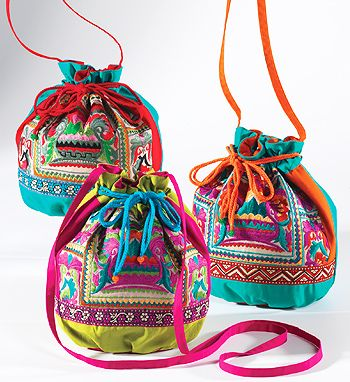 Ethnic style bags available at online Fuschia Boutique. Great for presenting gifts in. Also great to take to the beach on honeymoon...www.fuschiadesigns.co.uk