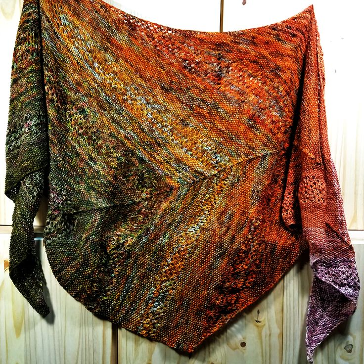 Image result for shawls knit with gradient yarn for sale